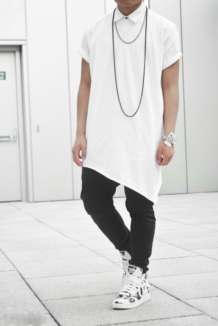 TREND ALERT: Tall Tees and Very Long Shirts | dappermen101